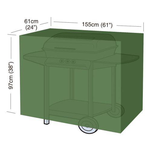 "plachta krycí na gril CLASSIC ""L"" 155x61x97cm, PE 90g/m2"