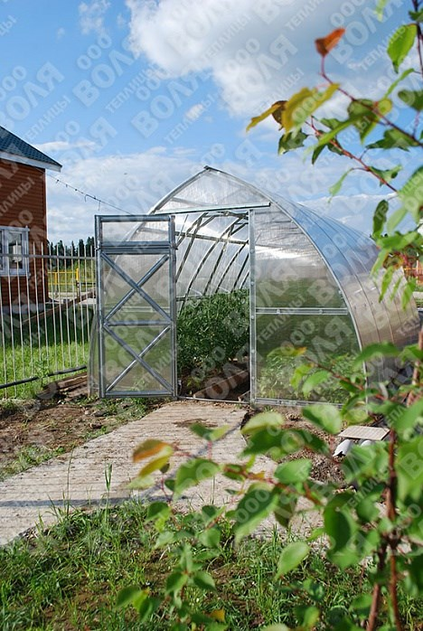 Zahradní skleník Volya LLC STRELKA 12 x 3 m, 4 mm
