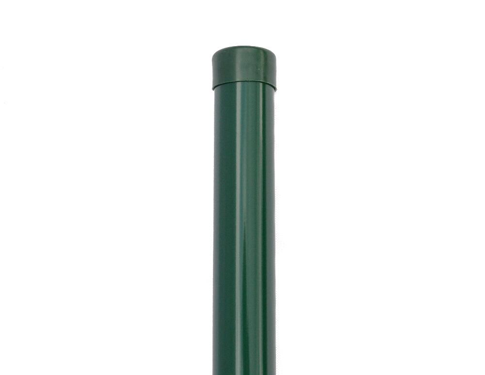 Plotový sloupek zelený průměr 38 mm, výška 250 cm